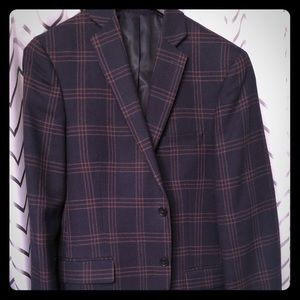 100% slim fit wool blazer